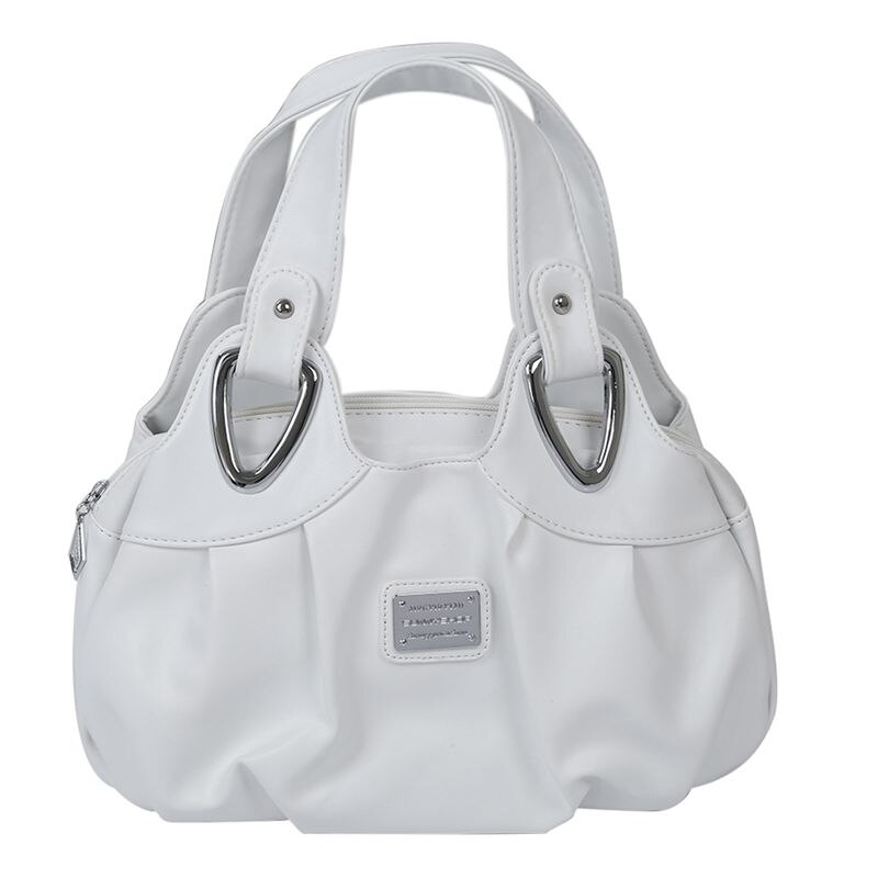 Fashion handbag Women PU leather Bag Tote Bag Handbags Satchel -Matte White