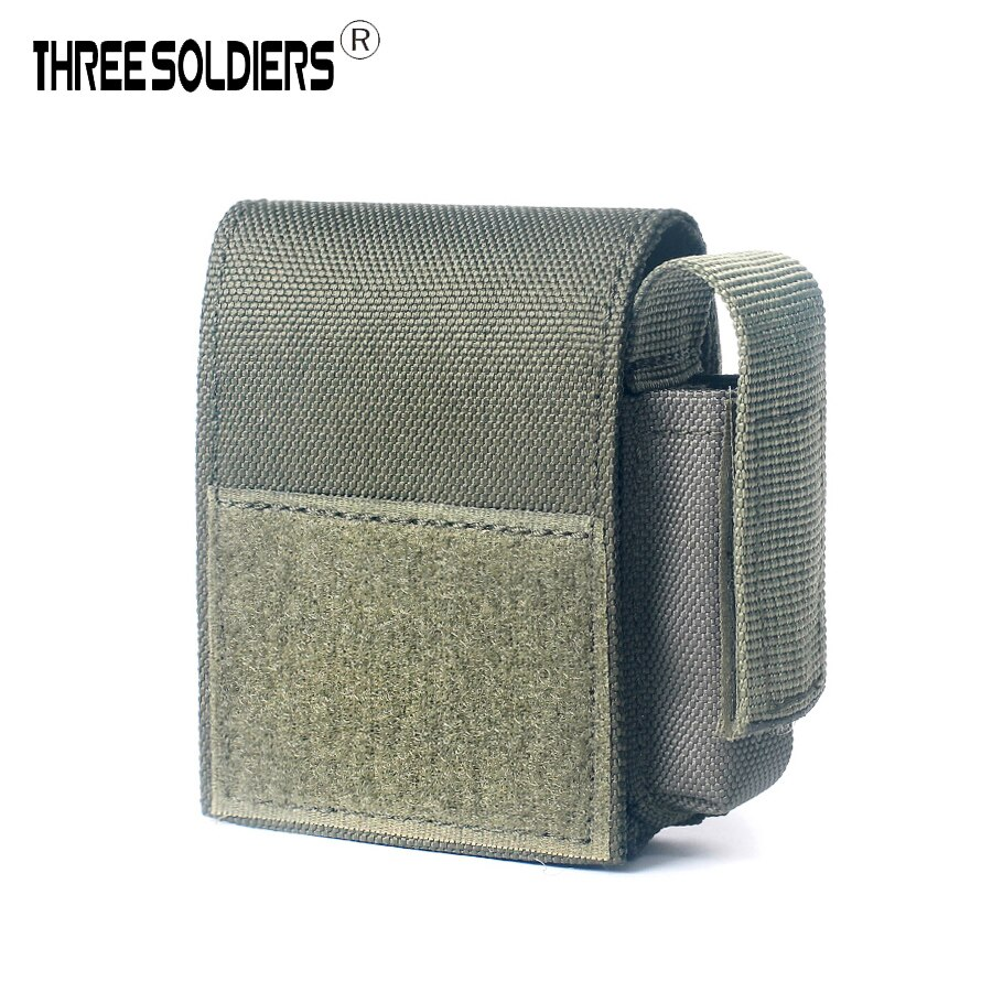 Three soldiers Outdoor cigarette phone running hanging pouch durable waterproof portable zipper molle waist pouch