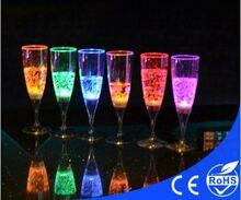 LED напиток мигающий свет свечение шампанского мартини Маргарита бокал для вина чашки партии Смарт аксессуары