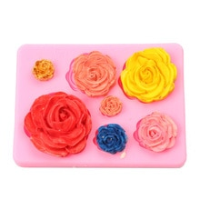 Rose Flowers Shaped Fondant Silicone Mold Craft Chocolate Baking Mold Cake Decorating Tools Kitchen Pastry Tool