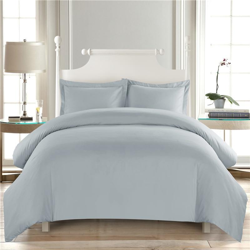 Juego de edredón de color blanco puro, juego de edredón de Hotel, funda de cama de tamaño King, funda de almohada para dormitorio, decoración Double49