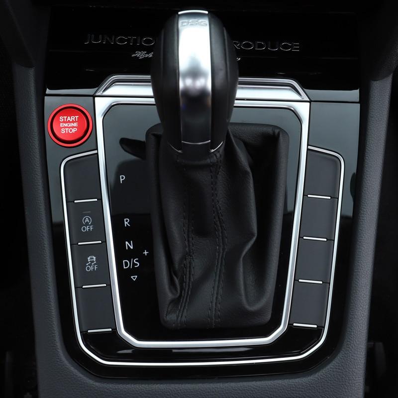 2pcs Aluminum Alloy Car Engine Start Stop Button Ring Cover Trim For VW Jetta MK7 Magotan Passat B8 CC Touran