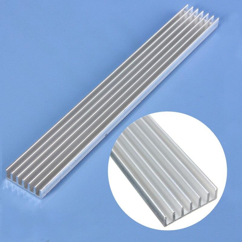 1 Uds. Disipador de aluminio LED de alta potencia de 150mm * 20mm * 6mm para enfriador de diodos emisores LED de 1W 3W 5W
