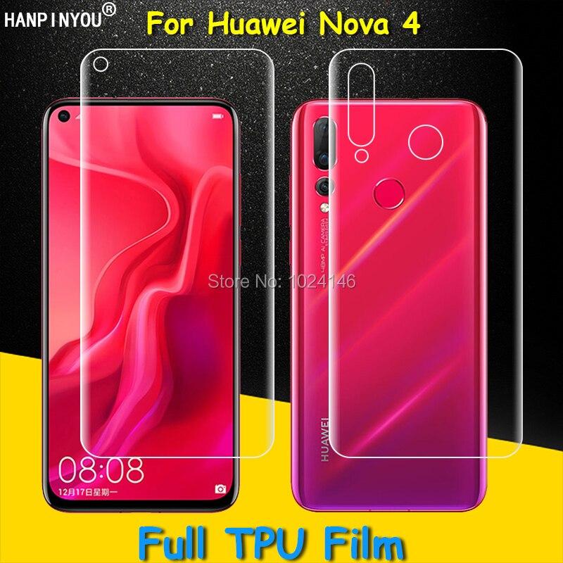 Front / Back Full Coverage Clear Soft TPU Film Screen Protector For Huawei Nova 4 Nova4 6.4
