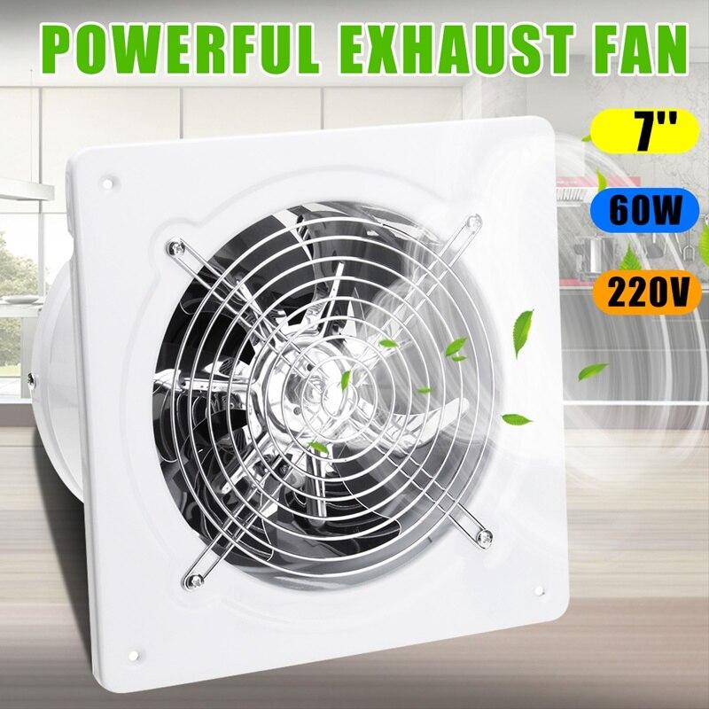 Warmtoo 7 pulgadas 60W conducto Booster ventilador extractor aire limpieza ventilación de enfriamiento Metal hoja techo pared ventana baño cocina ventilador