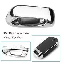 Remote Key Chain Hole Metal Cover Keyless Top Head Key Base for Volkswagen VW Golf 7 MK7 GTI Touran 2016 Octavia A7 2015 2016