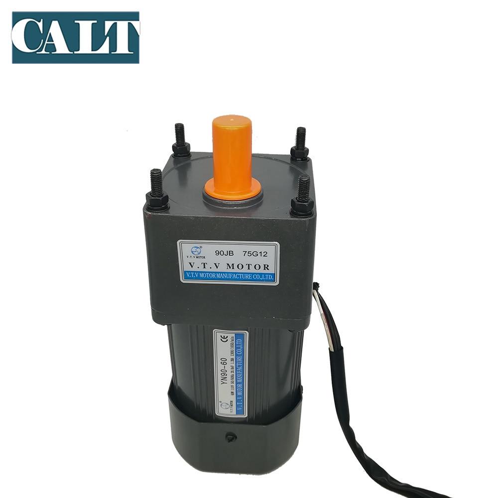 Popular VTV AC Gear Reducer Motor YN90-40 40W Micro 220V Geared Ratio 1:3 to1:180 With 12mm Output Axle Diameter