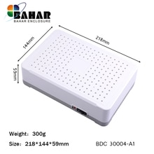 4 stücke abs kunststoff fall elektronik box diy elektronische box eletronic steuer gehäuse wifi router 218x144x59mm