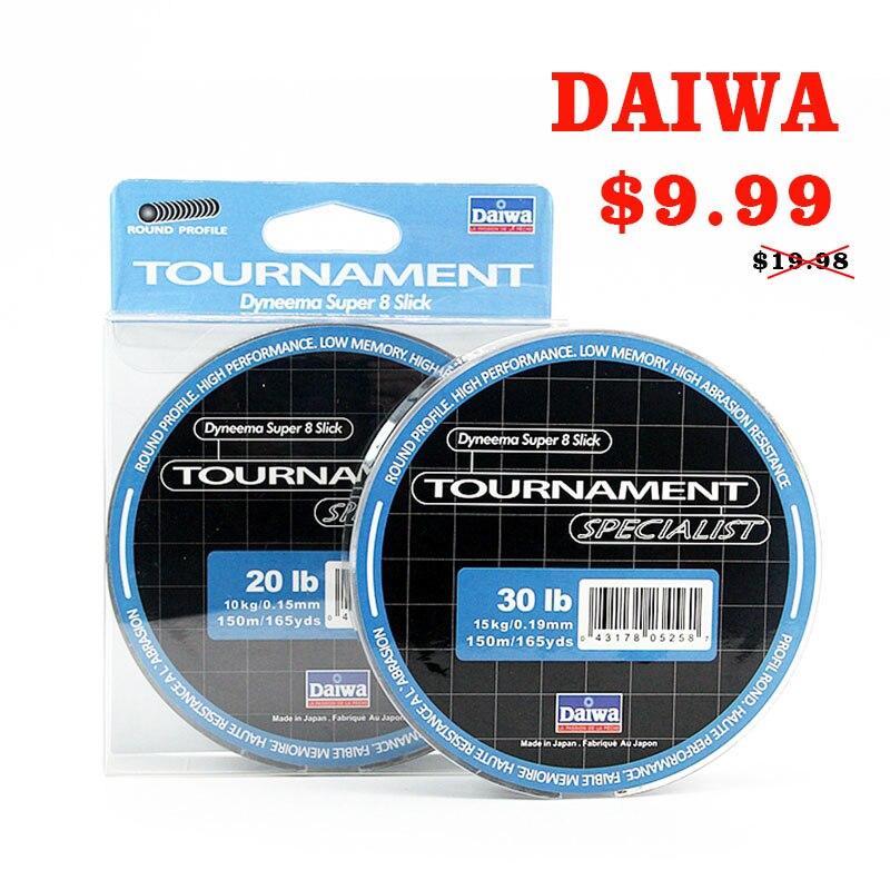 DAIWA 8 Braided Fishing Line - Length:150m/165yds, Diameter:0.1mm-0.4mm,size:13-88lb Japan PE braided line