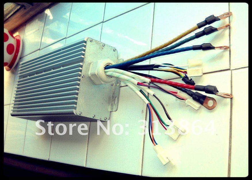 Controlador do motor de amax bldc de 30 mosfet 4000-5000w 48v-72v 100, controlador de velocidade sensored sem escova de ev