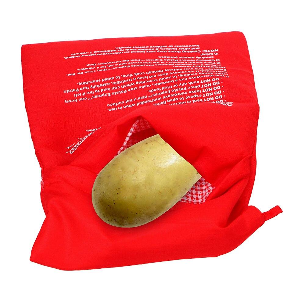 Lavable bolsa para cocinar microondas para hornear bolsa de papas rápido papas al horno arroz bolsillo fácil de cocinar, bolsa para cocinar al vapor