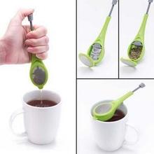 Infuseur à thé passoire à thé intégré piston filtre à thé réutilisable cuisine Gadget plastique presse sachet à thé accessoires théière 1 pièces