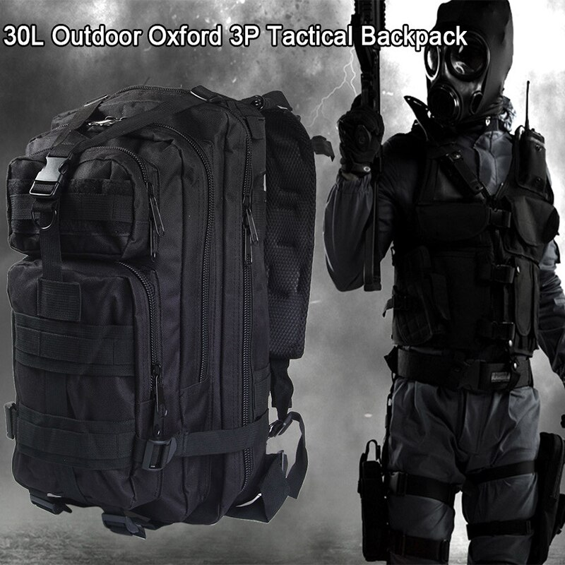 25L Molle táctico militar mochila de viaje de deportes al aire libre Camping senderismo supervivencia paquete camuflaje caza Airsoft bolsa