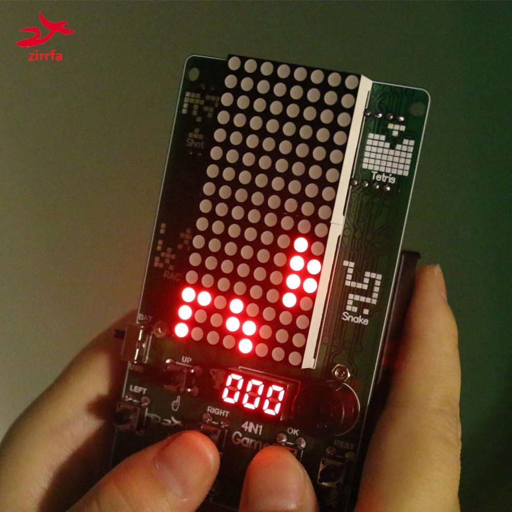 Electronic DIY Kit 8x16 Dot matrix game machine for Tetris/Snake/Shot/Racing Diy Kit Electronic