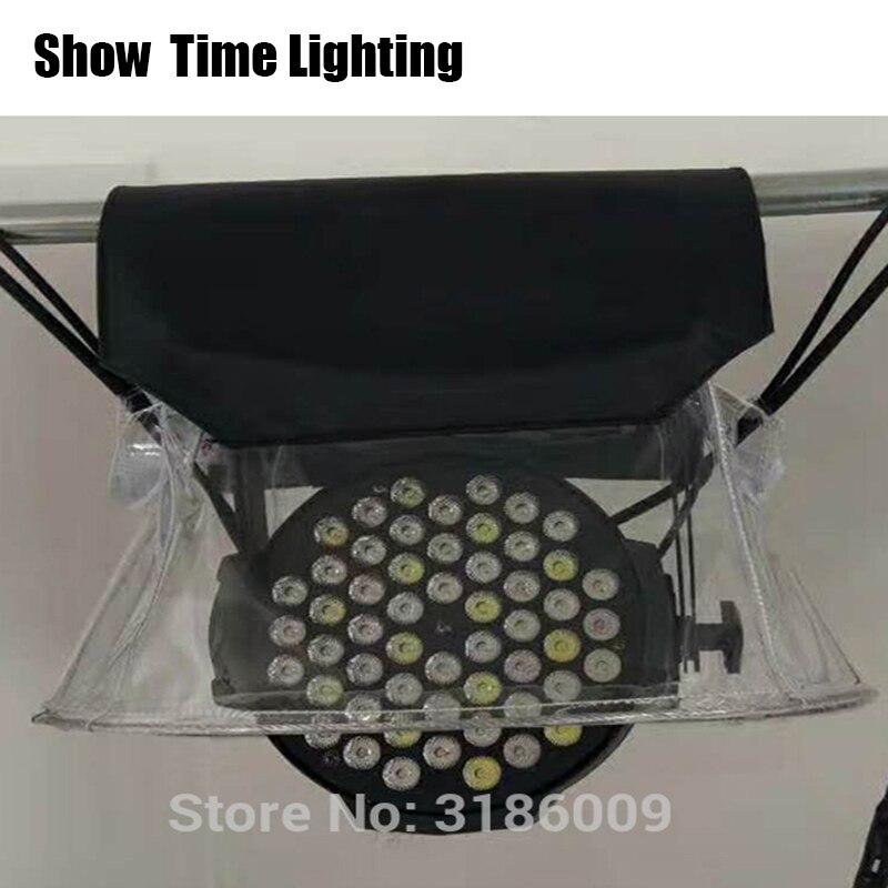 SHOW Time 10 unids/lote LED PAR lluvia cubierta etapa luz lluvia nieve abrigo impermeable cubiertas con cristal transparente plástico