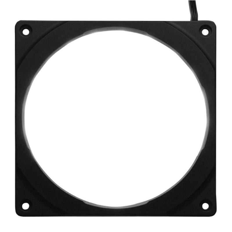 Vodool diy computador computador cooler ventilador quadro caso 18led 10 rgb led cor anel de auréola para 120mm pc dissipador de calor ventiladores do radiador