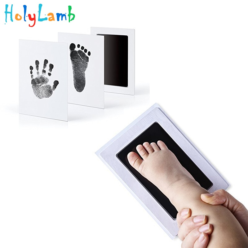 baby handprint footprint frame newborn footprint kit footprint child special gift for births and baptisms safe clean non toxic Baby Care Non-Toxic Baby Handprint Footprint Imprint Kit Baby Souvenirs Casting Newborn Footprint Ink Pad Infant Clay Toy Gift
