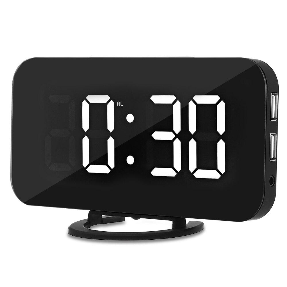 Led デジタルアラーム置時計サウンドテーブルホーム光センサー現代時計電子時計音ニキシーデスク時計バックライト
