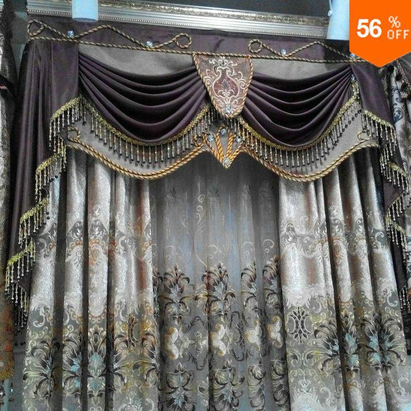 Шторы из стеклянных бусин, кружевные тюлевые занавески с вышивкой, роскошные готовые тюлевые занавески, шторы из тюля с бусинами для дверей