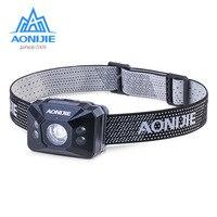 AONIJIE Camping Headlamp Lightweight Battery Lamp Highlight Waterproof Outdoor Led Night Fishing Running Light