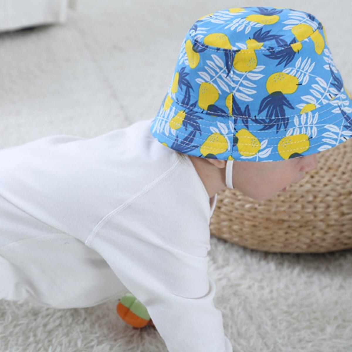 Летняя уличная хлопковая шапка для маленьких девочек с цветочным рисунком