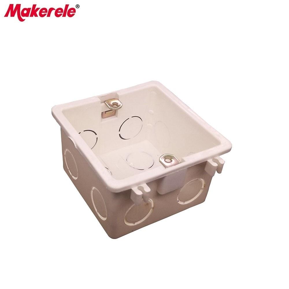 Makerele Montage Box für 86 typ Wand Schalter & Buchse Montage Kunststoff Elektrische Junction Zurück Box Qualität Wahl