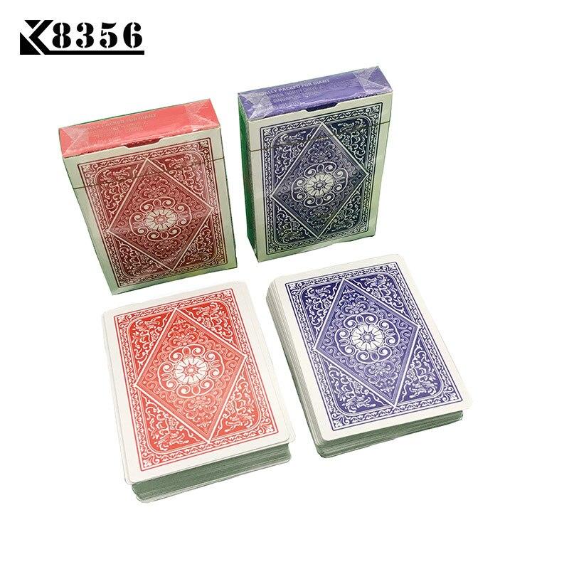 K8356 1Set letras Texas Holdem juego de tarjetas suave Poker tarjetas Deck cubierta Baccarat juego de mesa de cartas 2,48*3,46 pulgadas