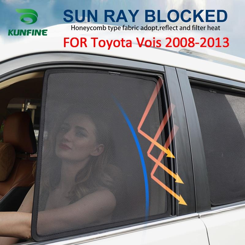 4 unids/set o 2 unids/set Coche magnético parasoles de ventana laterales de malla de sombra ciego para Toyota Vois 2008, 2009, 2010, 2011, 2012, 2013