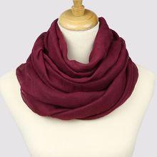 Neelamvar-foulard châle femme   Écharpe, en coton solide, grande taille, 14 couleurs, automne hiver 2019