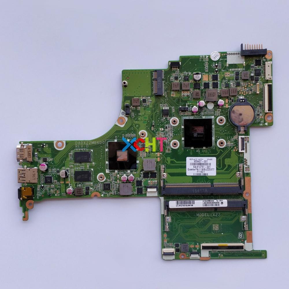 809407-001 809407-501, 809407-601 DA0X22MB6D0 w R7M360/2GB A8-7410 para HP 15Z-AB00 15-ab132AX 15-AB portátil placa base