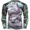 2018 Mens Fitness t-shirt Compression O-Neck Long sleeves T Shirt Animal 3D Prints MMA Rashguard Tights bodybuilding Man T-Shirt