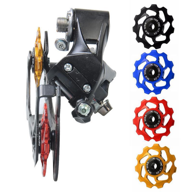 Cycling MTB Mountain Road Bike Bicycle 11T Rear Derailleur Jockey Wheel Tension Guide Pulley Ceramic Bearing Aluminum Alloy