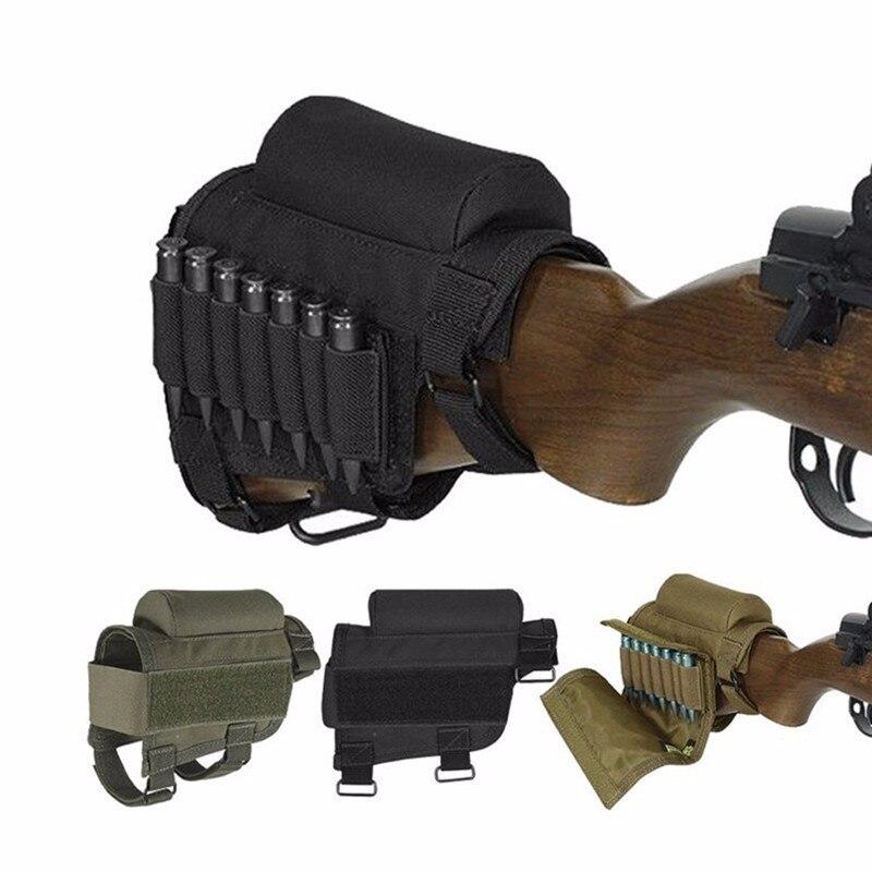 Ao ar livre tática bala tuba bochecha pacote caça combate tiro saco de propósito especial arma segurar suporte lona bandoleiro conjunto