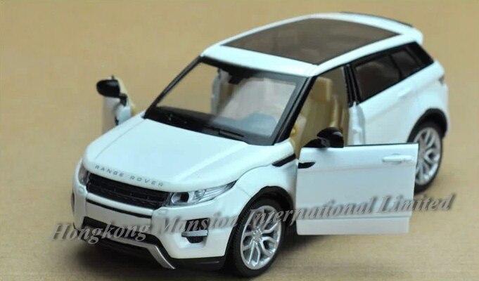 Escala 1:32 para Range Rover Evoque Diecast aleación Metal lujo coche modelo todoterreno colección vehículo modelo Pull Back sonido y coche ligero
