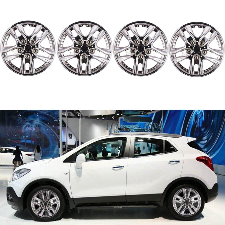 12 Inch 4pcs Car Chrome Wheel Rim Skin Cover  Hub Caps Hubcap Wheel Cover Sliver