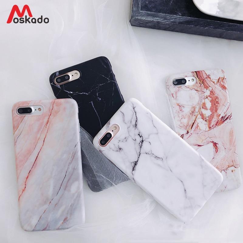 Чехол для телефона Moskado для iPhone SE 2020 6s 7 8 Plus Глянцевая гранитная каменная мраморная текстура чехол для iPhone 11 Pro X XS Max XR оболочка