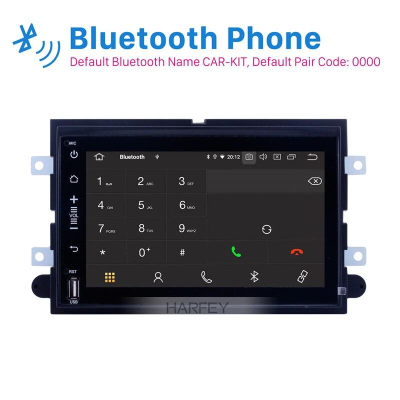 Harfey carro hd android 9.0 navi dvd gps traço rádio automático para ford mustang 2005-2009 com 3g wifi bluetooth obd2 câmera de visão traseira