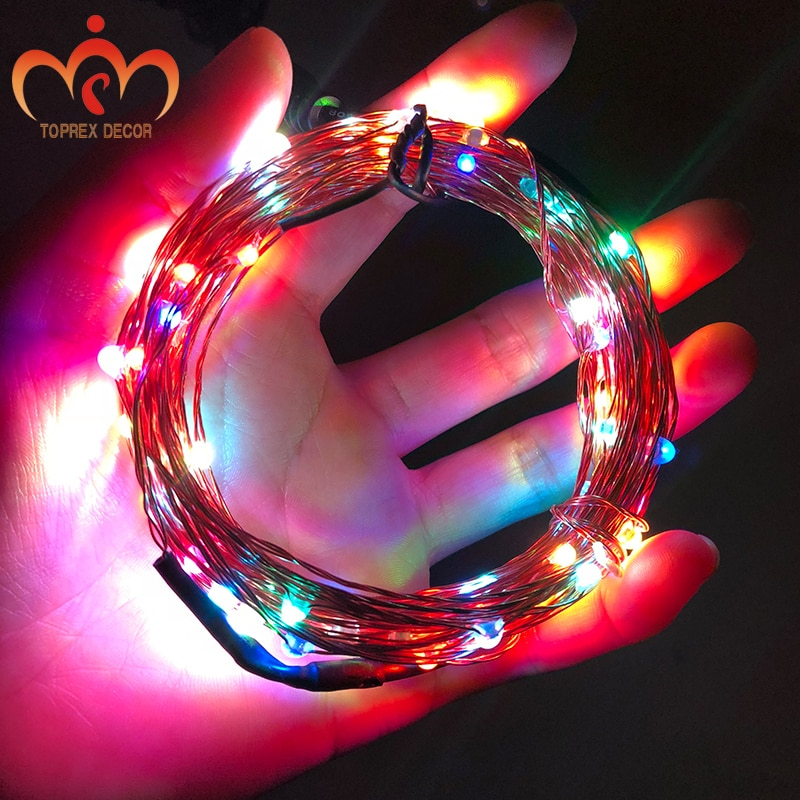 USB RGYB 8 models of Twinkling with remote 10m LED copper string light xmas decoration LED fairy lights garland