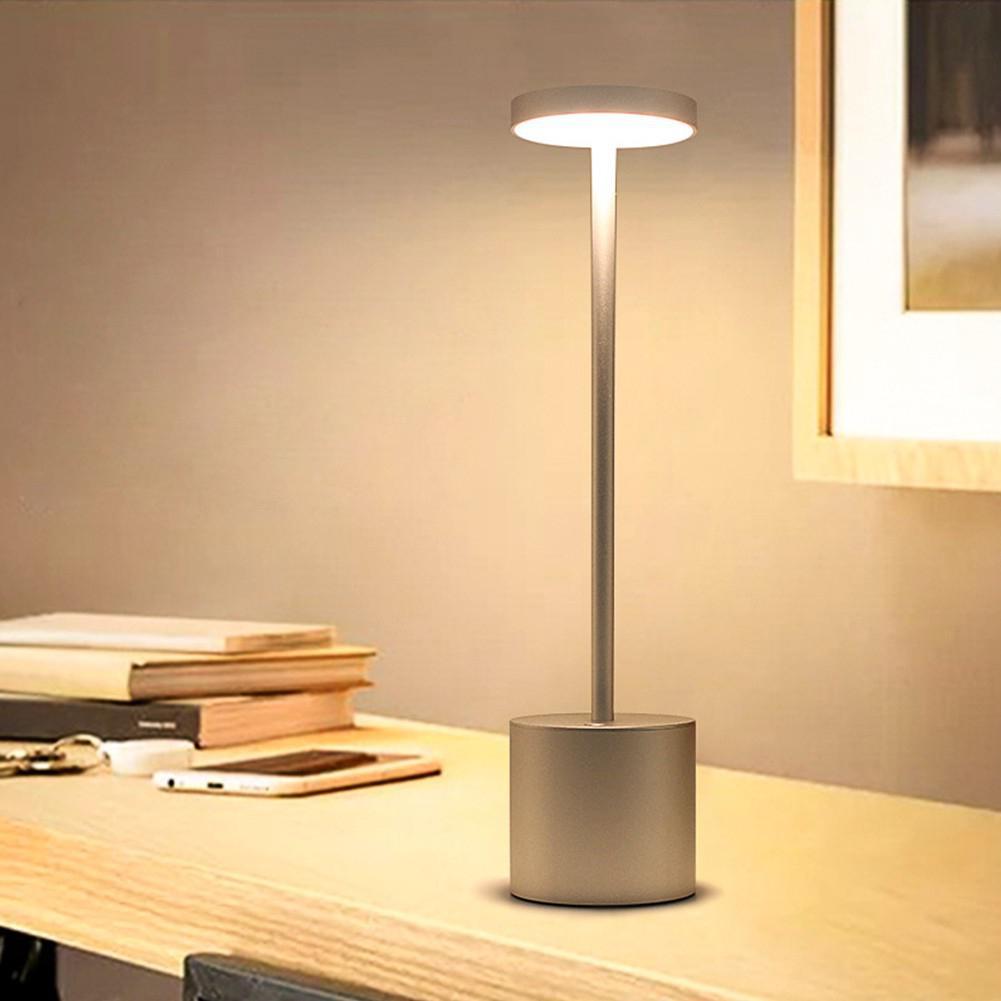 Lámpara LED de mesa recargable por USB, elegante luz nocturna con 2 modos de ojo, lámpara con protección de regalo, 30