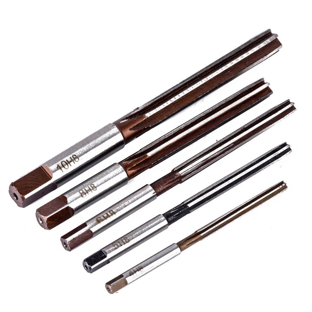 Fraises à main à tige droite, outil H8, jeu de 6 cannelures, 4mm/5mm/6mm/8mm/10mm pour les outils métalliques, Mayitr