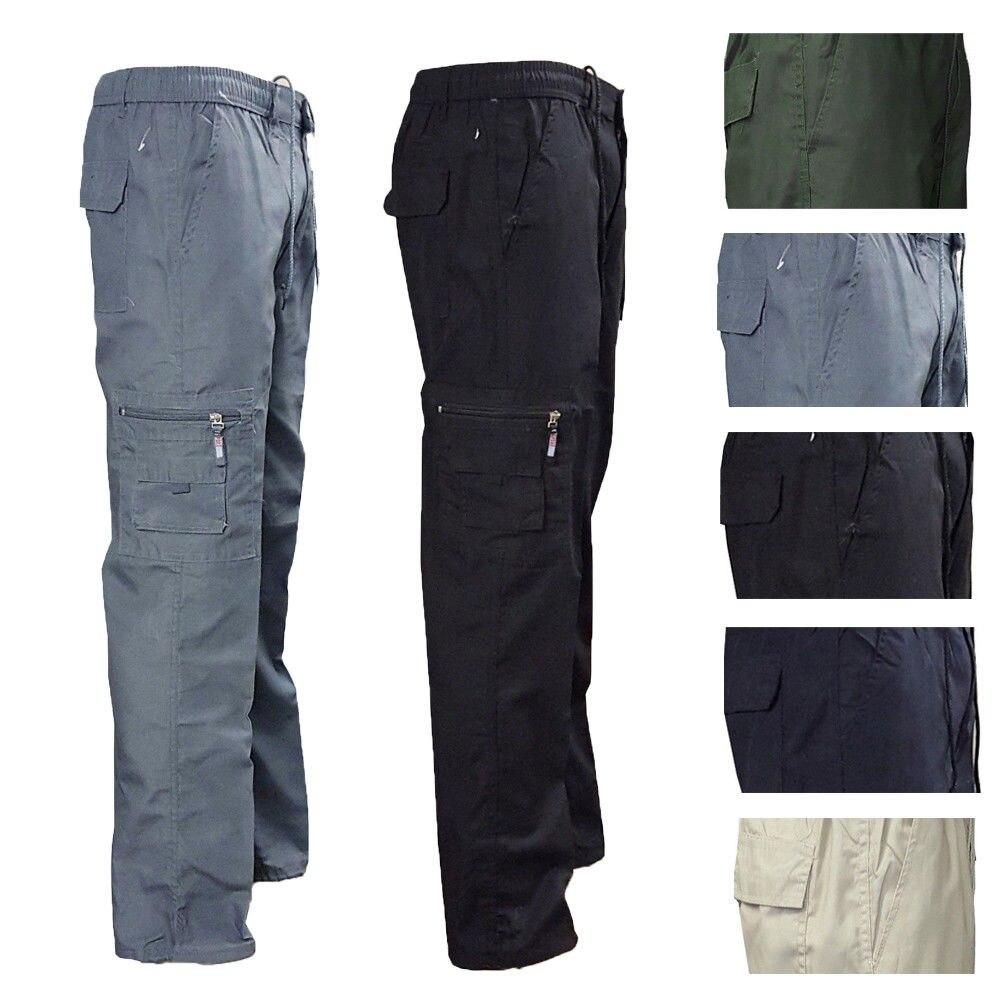 Pantalones tácticos para hombre, pantalones de algodón de talla grande informales para hombre, pantalones de camuflaje militar de estilo militar con múltiples bolsillos, pantalones Cargo para hombre
