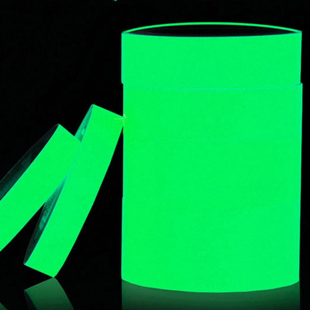 New Creative Reflective Glow Tape Removable Luminous Fluorescent Glowing Tape Sticker Dark Striking Warning Tape
