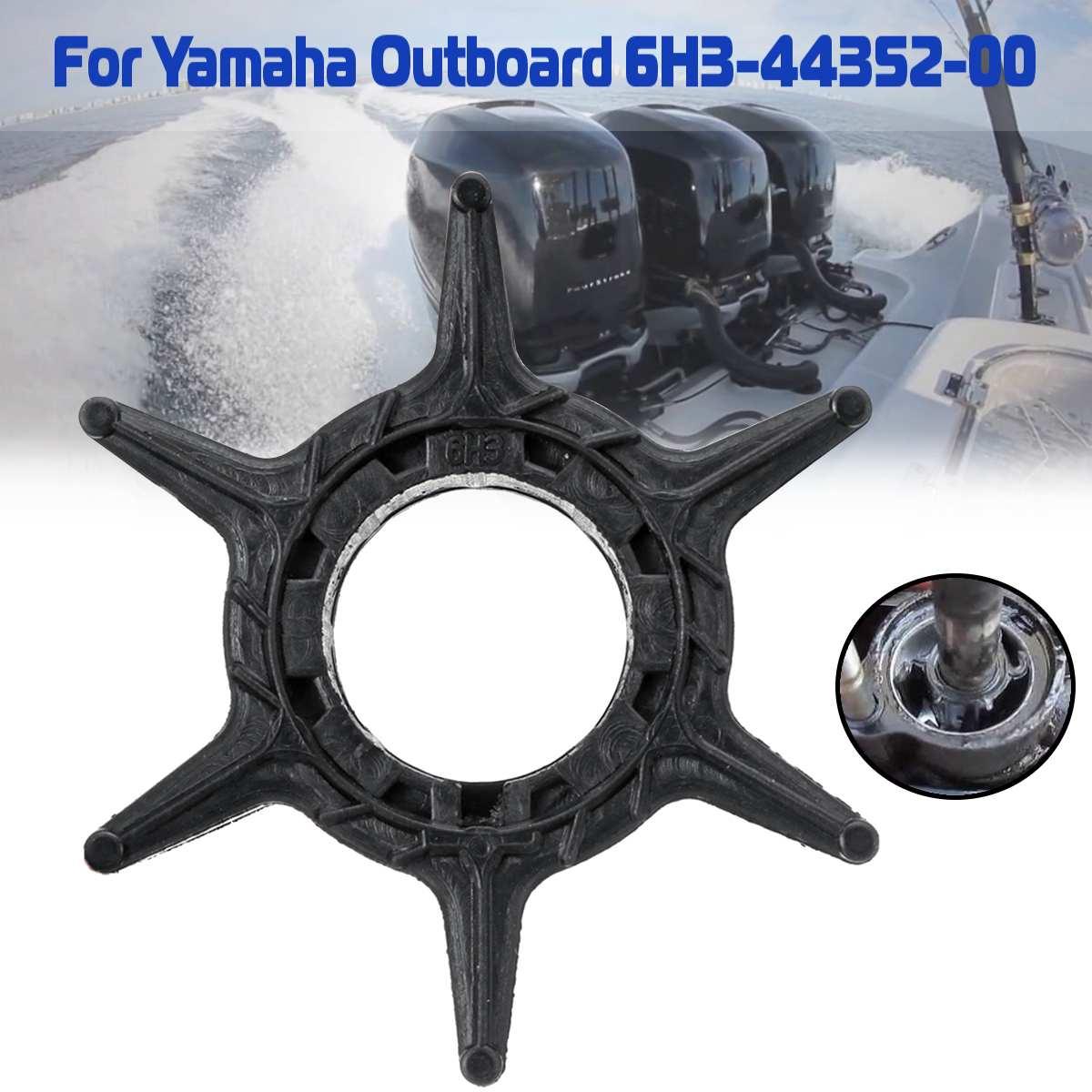 Reemplazo de Motor fueraborda 6H3-44352-00 para impulsor de bomba de agua Yamaha 40-60HP 6 cuchillas goma negra diámetro 52mm Accesorios