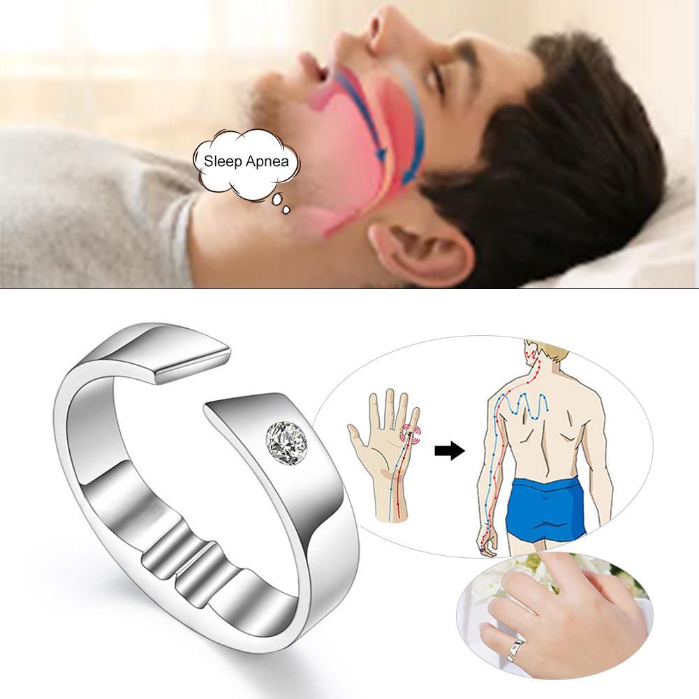 Anti ronco anel de aço titânio ronco rolha contra dispositivo ronco dedo anel doméstico sleep aid para adultos