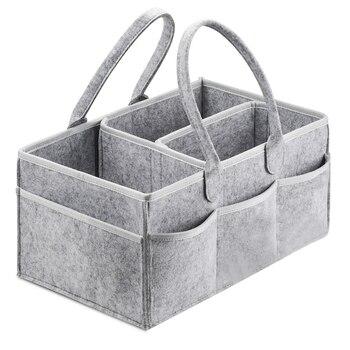 Sac de boîte de transport organisateur de Caddy de couche de bébé pour la Table à langer et la voiture, bacs de stockage essentiels de pépinière 38*23*18cm