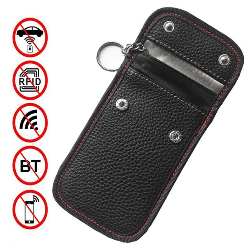 Chave do carro Caso Saco De Armazenamento Caso Saco Bloqueador De Sinal Sinal de Bloqueio RFID Caso Escudo Protetor Anti-hacking Carro Bolso chave Ferramenta