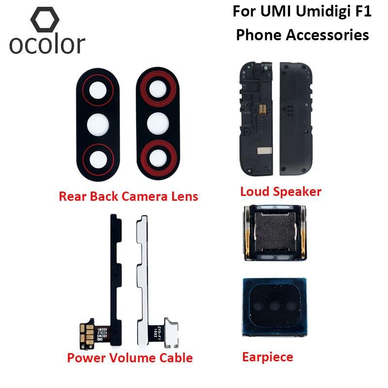 Ocolor para UMI Umidigi F1 Play auricular para altavoz, reparación para umidigi-f1 UMI, Cable de volumen de energía, lente de cámara trasera