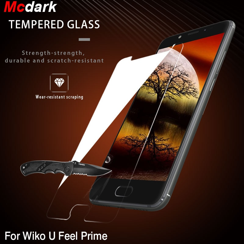 De vidrio templado 9H para Wiko Ridge 4G Protector de pantalla Film para Wiko U Feel Fab U Feel Prime te sientes fácil de instalar, película del teléfono