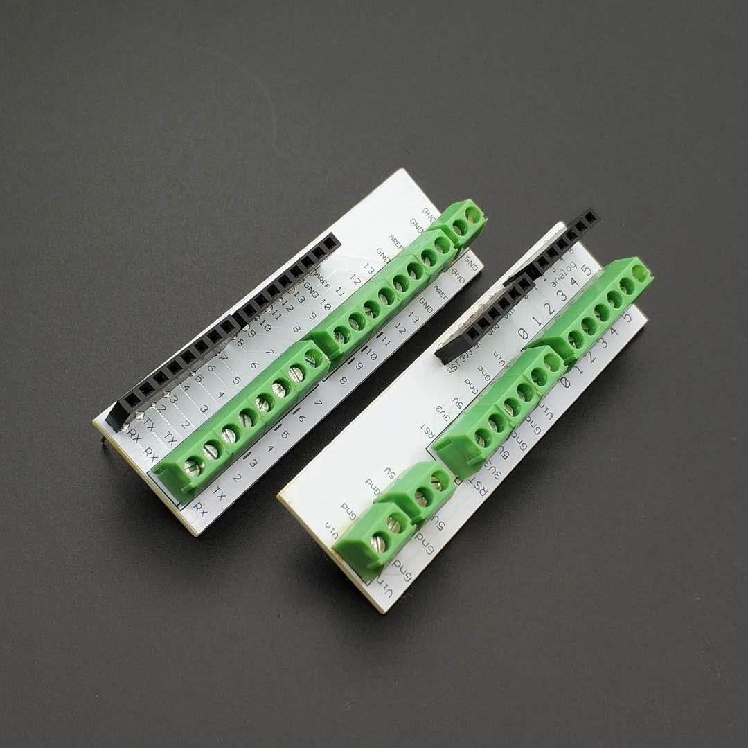 1 個 Screwshield ネジシールドアナログ側の Pcb 6 ピンスタッカブルヘッダ用のネジ端子と互換性の Arduino UNO r3