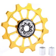 HOT-Muqzi Bicycle 12T Positive Negative Tooth Wheel Rear Derailleur Bike Guide Pulley Ceramics Bearing